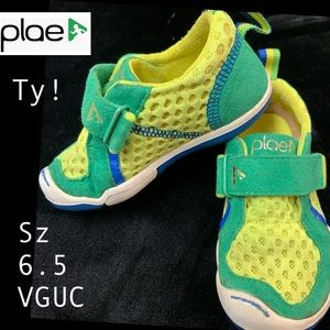Plae Green Ty Suede & Poly Mesh! Sz 6.5